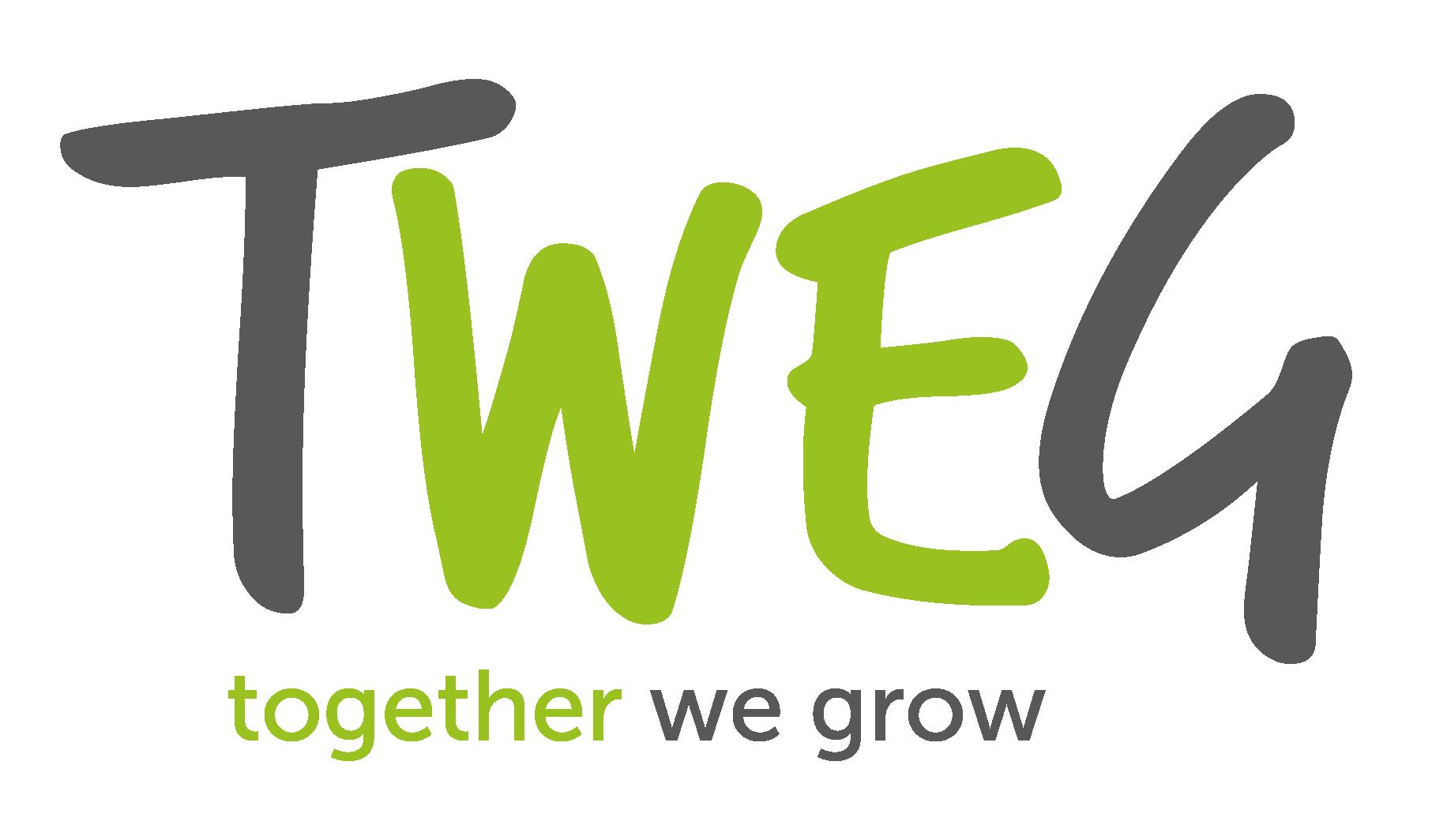 Logo tweg.be: Welzijn als motor voor duurzame groei